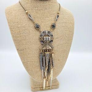 Mixed metal Amulet pendant